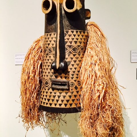 Unknown Pende Artist  Democratic Republic of the Congo  Pumbu mask, 20th Century Wood with pigment and raffia Gift of John A. and Mary Pat Carlen, 2008.2.247